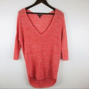 Express Circle Hem Oversized Tunic Sweater